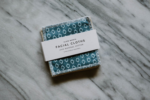 Reusable Facial Cloths - Teal Mix