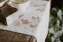 Load image into Gallery viewer, Hand Dyed Real Leaf Silk Table Runner