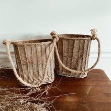 Load image into Gallery viewer, Set of 2 Woven Hanging Baskets