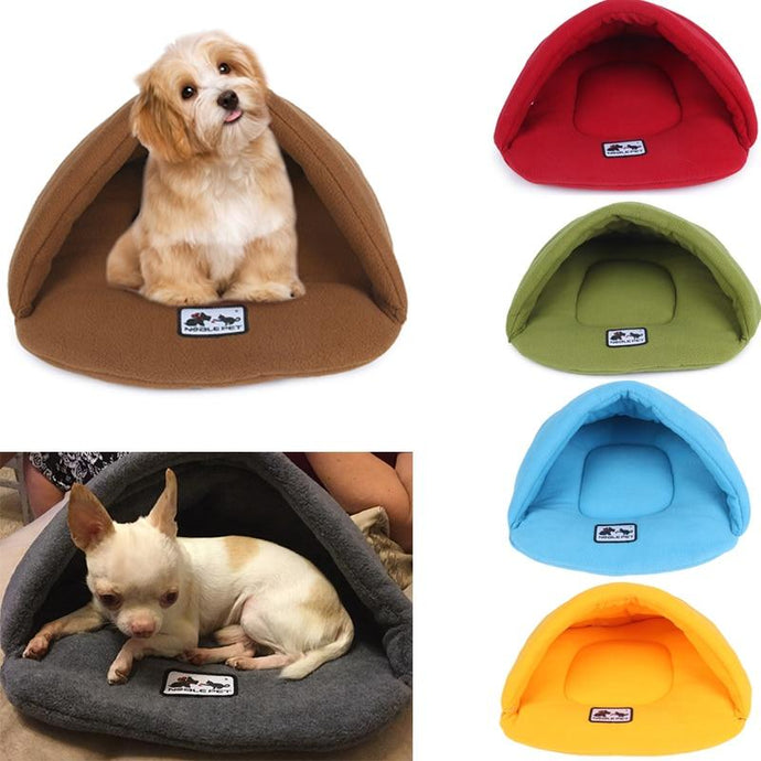 Fleece Pet Tent Bed For Your Puppy or Kitten