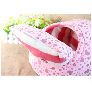 Pink Pillow Pocket Pet Bed Showing Pillow