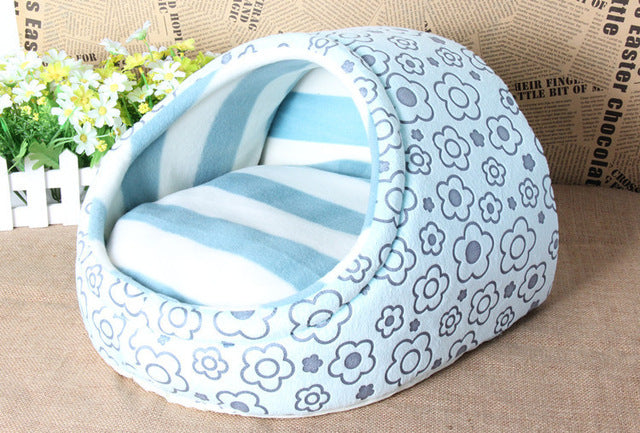 Blue Pillow Pocket Pet Bed