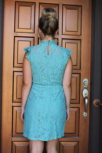 Turning Heads Mint Lace Dress