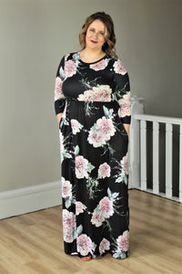 Dazed With Floral Buttery Maxi