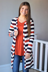Favorite Striped French Terry Cardigan
