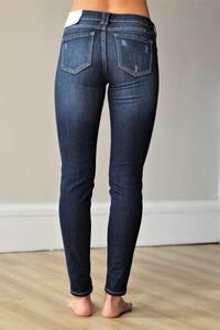 KanCan-Slightly Patched Dark High Rise Skinny