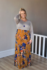 Curvy Forever In Our Hearts Contrasted Maxi