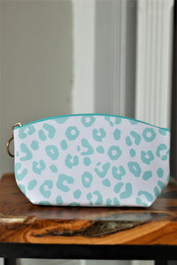Blue Leopard Cosmetic Bag