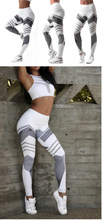 Load image into Gallery viewer, Patchwork Sports Leggings