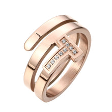 Load image into Gallery viewer, Exclusive Multi Layer Wire T Rings for women Wedding