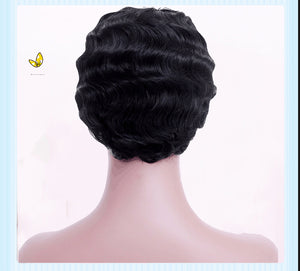 Short Pixie Wavy Wigs for Women