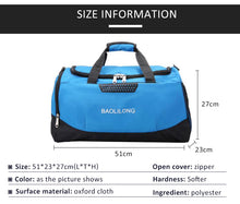 Load image into Gallery viewer, Large Sports Gym Bag With Shoes Pocket