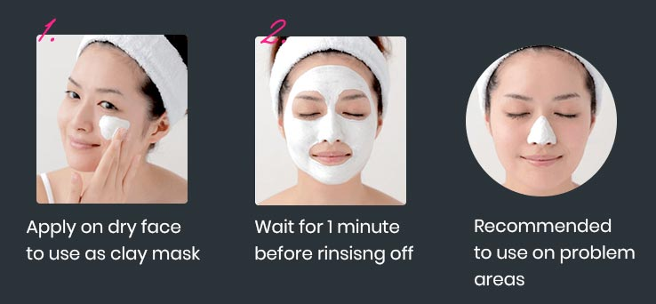 Itten Clay Pack Face Wash - Mask Pack Method