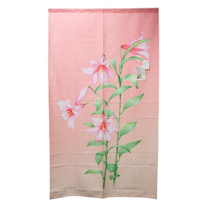 Noren (Shop Curtain) -  Lily flower, 85 x 150cm