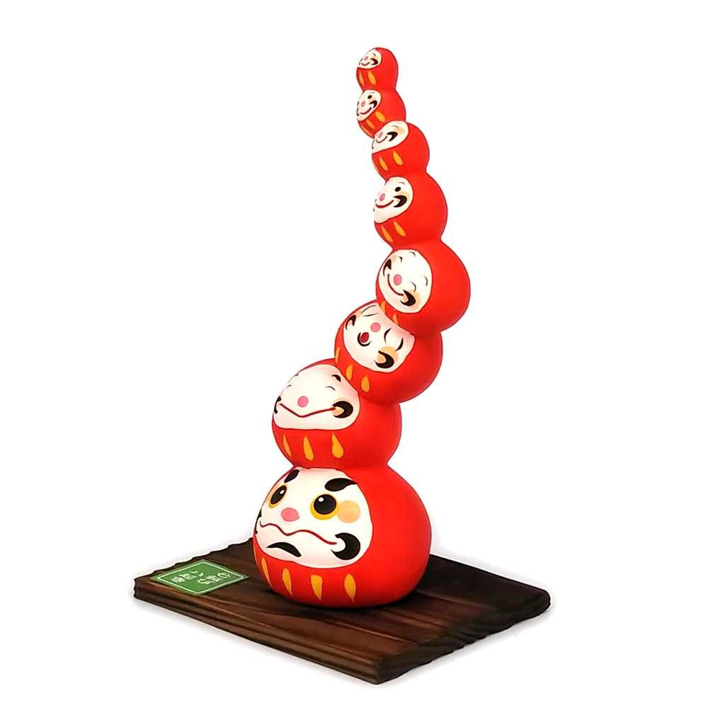 Daruma Mountain, Wishing doll to achieve goals, Red, Right Side