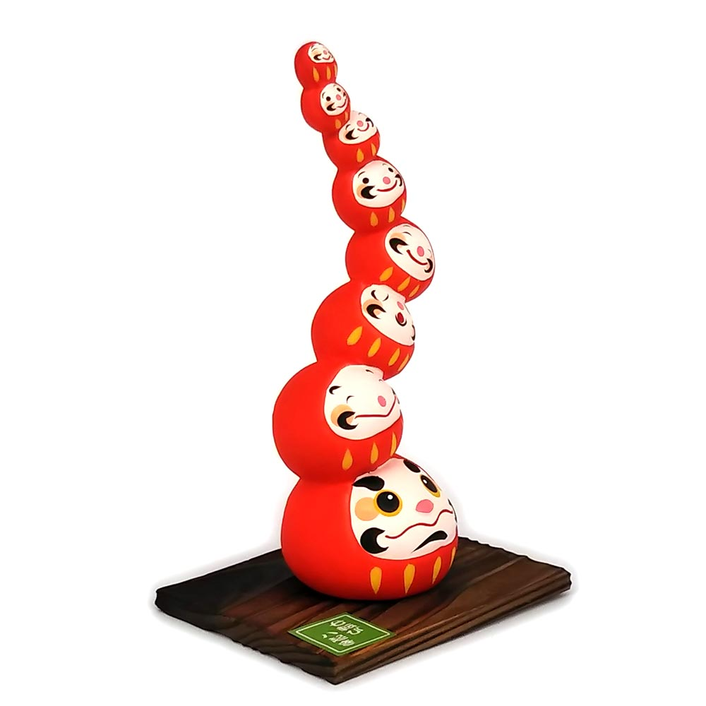 Daruma Mountain, Wishing doll to achieve goals, Red, Left Side