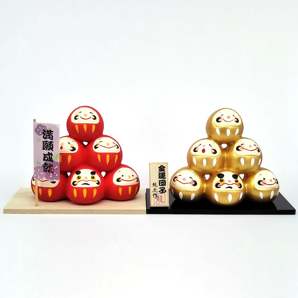 Daruma Mountain, Wishing doll to achieve goals, Pass exam, Get a promotion, 2 Colors