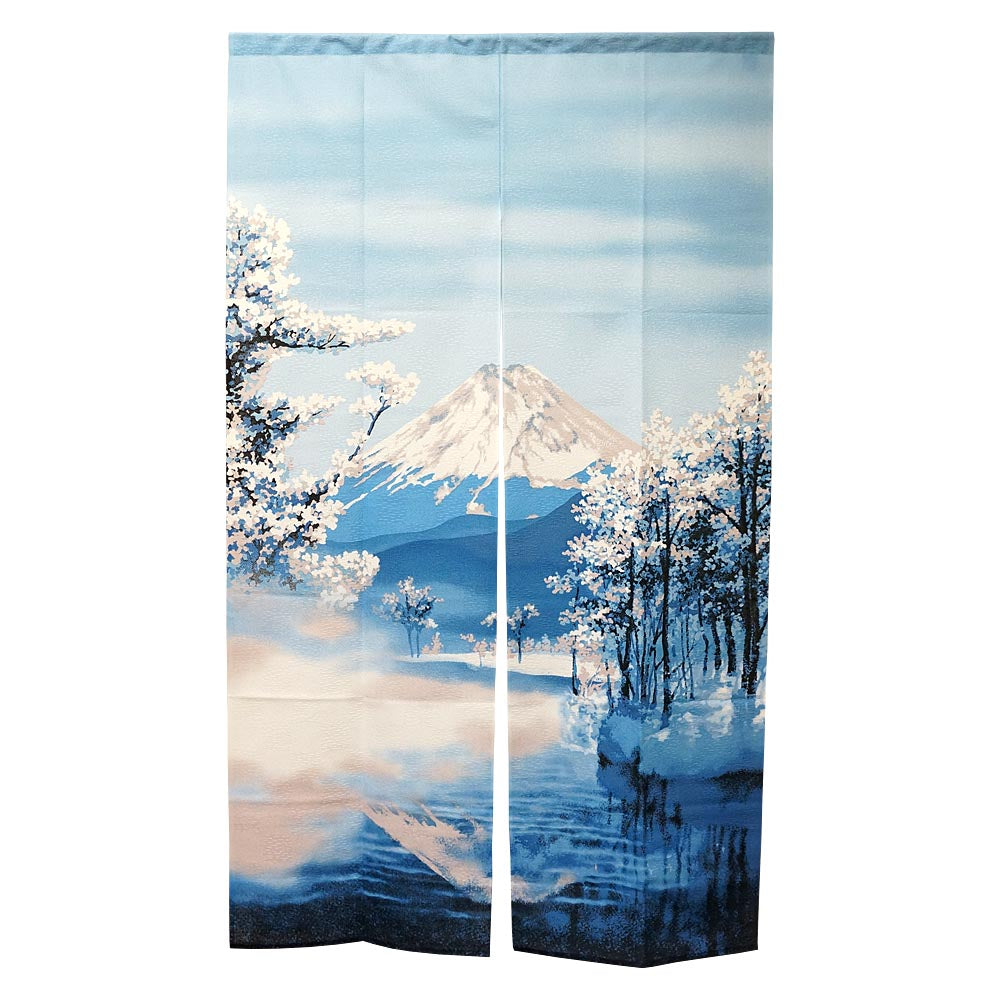 Noren (Shop Curtain) -  Mount Fuji in winter, 85 x 150cm
