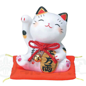 Maneki-neko, H8cm, Calico Cat, Right Paw Up, Invites Money, 10 Million, Lucky Cat / Fortune Cat