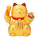 [Best-seller] Grand Waving Maneki-neko, H15.5cm, Golden Cat, Battery Operated, Invites Big Win, Lucky Cat / Fortune Cat