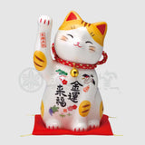 Maneki-neko Piggy Bank, H18.5cm, Orange Tabby Cat, Right Paw Up, Invites Money, Economic Fortune, Lucky Cat / Fortune Cat