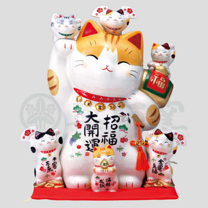 Maneki-neko Piggy Bank, H35cm, Orange Tabby Cat, Right Paw Up, Invites Good Luck, Better Fortune, Lucky Cat / Fortune Cat