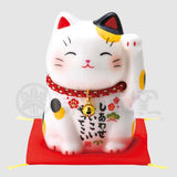 Maneki-neko, H9cm, Calico Cat, Left Paw Up, Invites Happiness, Lucky Cat / Fortune Cat