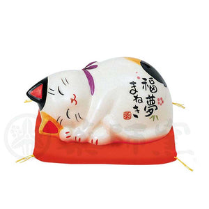 Maneki-Neko Inviting Happy Dreams, H4cm, Calico Cat, Lucky Cat / Fortune Cat