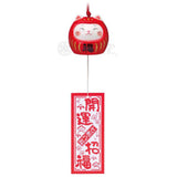 Lucky Neko-Daruma Wind Chime, Red, Ward off bad luck
