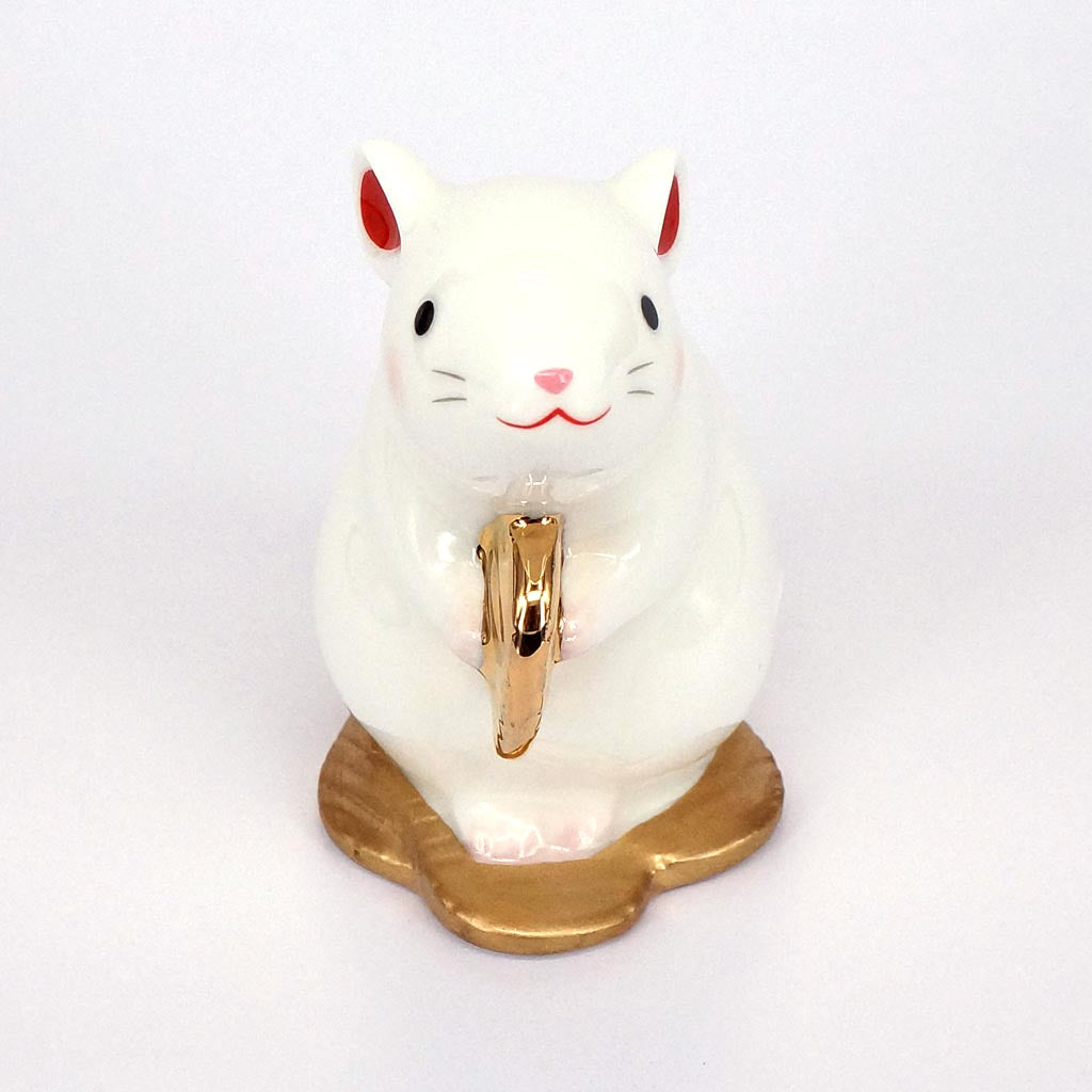 Japanese Zodiac Rat Ornament, Gold Coin, Year of the Rat Ornament
