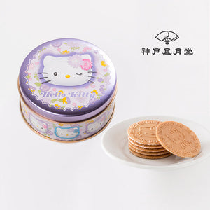 KOBE FUGETSUDO Hello Kitty Mini Gaufres (Purple) - 6 Mini Gaufres in a tin