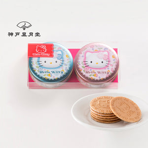KOBE FUGETSUDO Hello Kitty Mini Gaufres (Blue & Pink) - 6 Mini Gaufres x 2 Tins