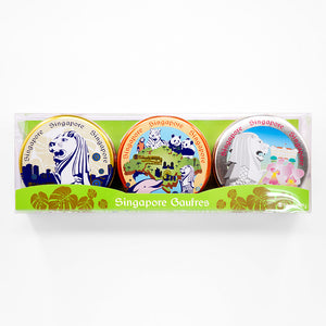 KOBE FUGETSUDO SINGAPORE Mini Gaufres (Merlion, Safari & Orchid) - 6 Mini Gaufres x 3 Tins