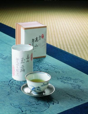 "Gyokuro ""KOZAN"" 70g, Handmade Special Tea Caddy / Tea Canister, Japanese Tea from Kyoto"