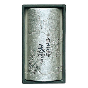 "Gyokuro ""TEN-UN"" 190g, Silver Plated on Copper Tea Caddy / Tea Canister, Japanese Tea from Kyoto"