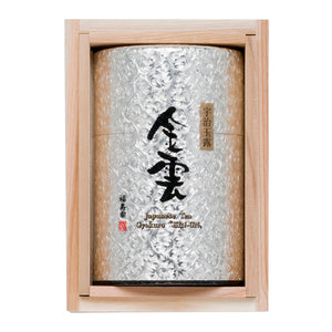 "Gyokuro ""KIN-UN"" 70g, Silver Plated on Copper Tea Caddy / Tea Canister, Japanese Tea from Kyoto"