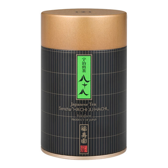 "Canned Sencha ""Hachi-ju-Hachi (Eighty-eight)"" 110g, Japanese Tea from Kyoto"