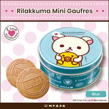 KOBE FUGETSUDO Rilakkuma Mini Gaufres (Blue) - 6 Mini Gaufres in a tin