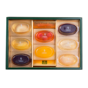 SEMBIKIYA Pure Fruits Jelly - 8 Pieces in Gift Box, 106g each