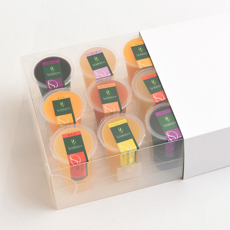 SEMBIKIYA Flute Jelly - 9 Pieces, 125g Each, Packaged in Plastic Box