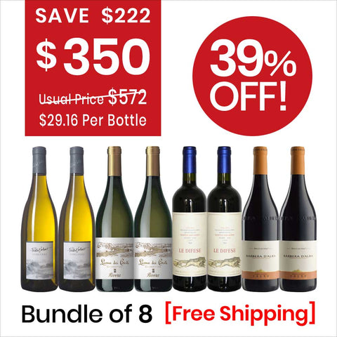 Wine Bundle Deal 2 (8 Bottles Pack) Red Wine & White Wine