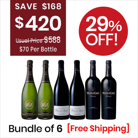 Wine Bundle Deal 3 (6 Bottles Pack) Champagne & Red Wine