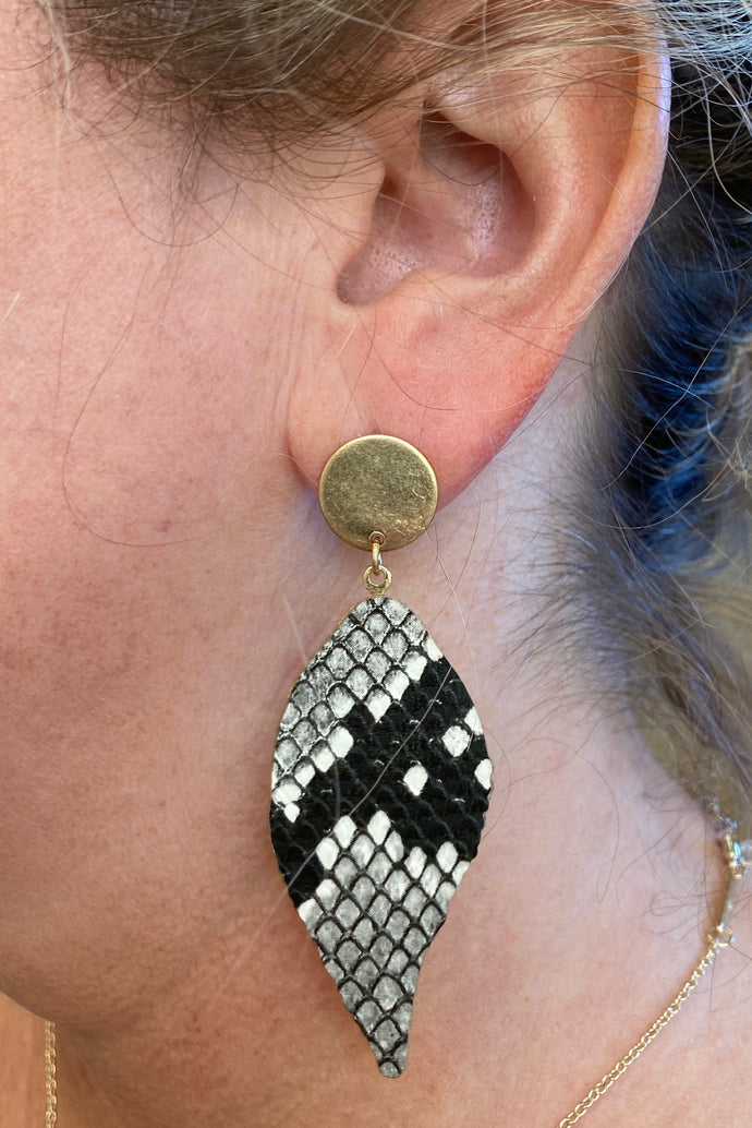 Snakeskin Post Earrings