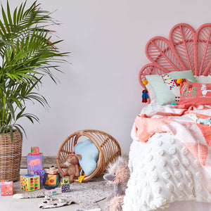 Kids-Peach-Daisy-Natural-Rattan-Headboard-The-Rattan-Company
