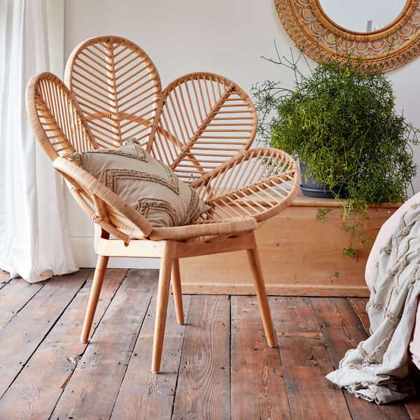 Adult Natural Rattan Petal Chair The Rattan Company