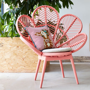 Adult Rattan Peach Petal Chair - The Rattan Company