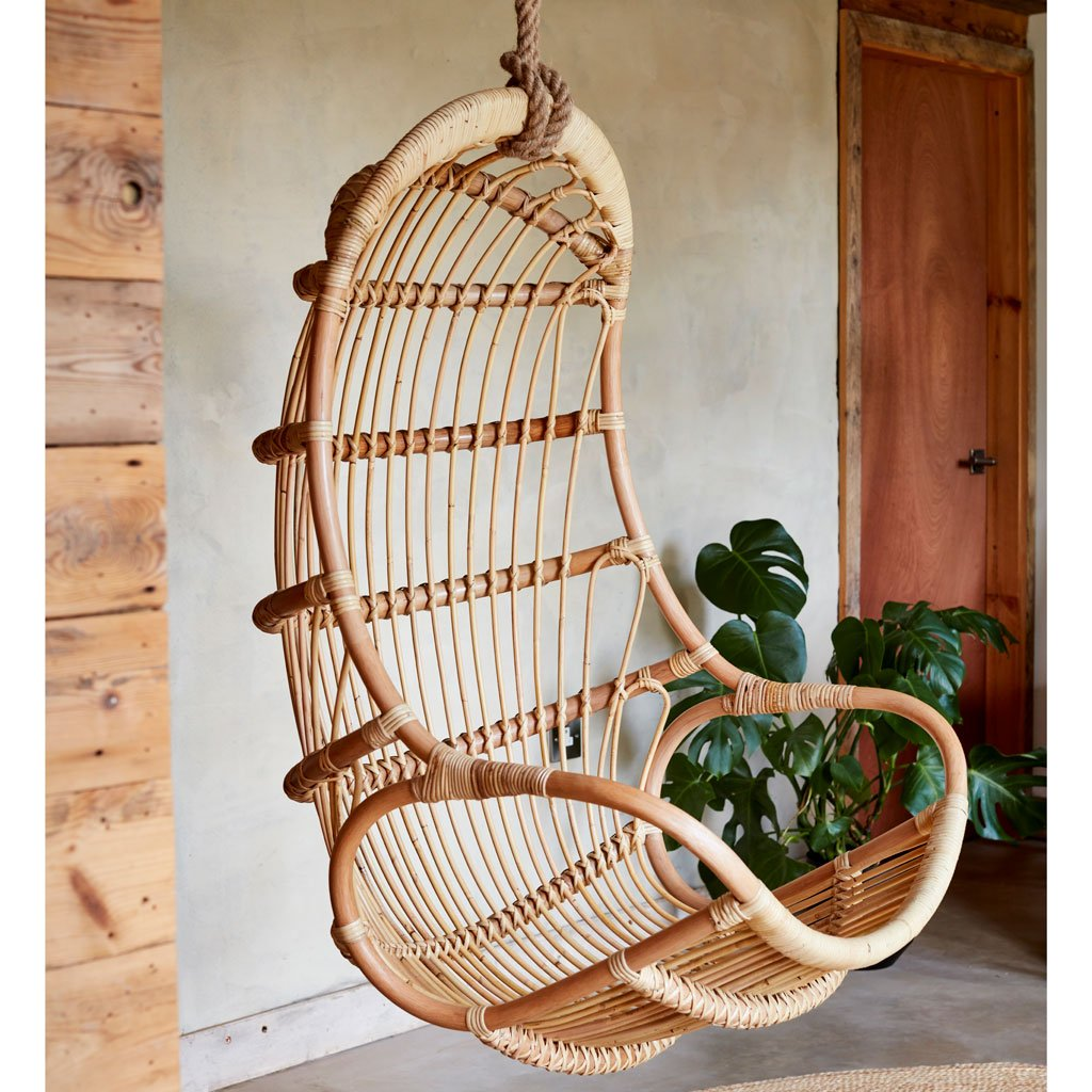 Aurora Rattan Hanging Egg Chair The Rattan Company