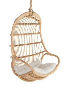 Aurora Rattan Hanging Chair with Cushion - The Rattan Company