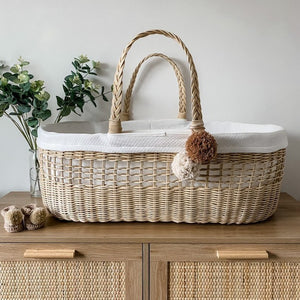 Ava Rattan Moses Basket Luxury Bundle
