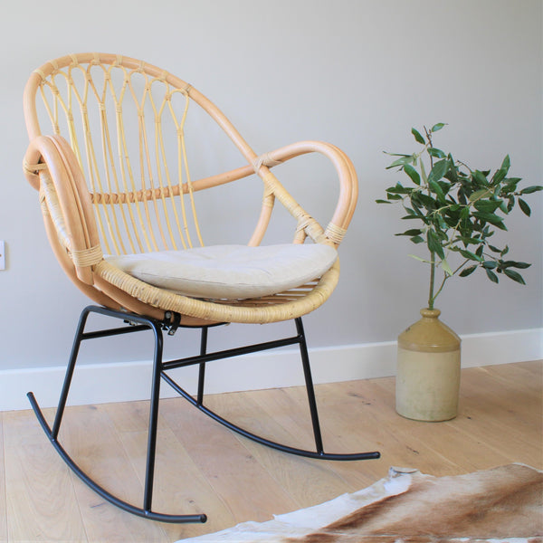 Bali Rattan Cane Rocking Chair - The Rattan Company